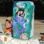 Painting Utility Box, Aptos California
