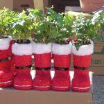 Christmas Boot Planters