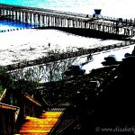 Colorized Rendering: Seacliff Stairs