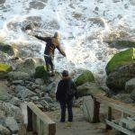 Friends, Pleasure Point Beach, Santa Cruz