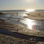 Sun Reflection on Beach