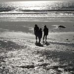 Figures on Silvery Beach