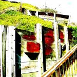 Colorized Rendering;: Stairs at Beach
