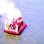 Colorized Rendering; Float at Begonia Festival, Capitola Village California