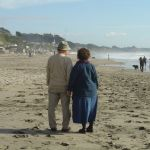 Sweet Looking Older Couple on the Beach