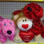 Tacky Valentine's store animals