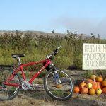 Farm Tour Sign With Bike