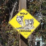 Wolf Crossing Sign, Aptos California